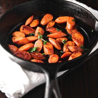 Delicious skillet carrots!