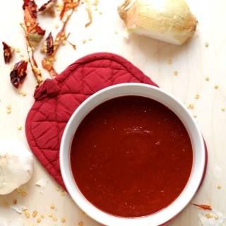 Delicious and authentic anchilada sauce #Mexicanrecipe #Vegan #Vegetarian #Foodie