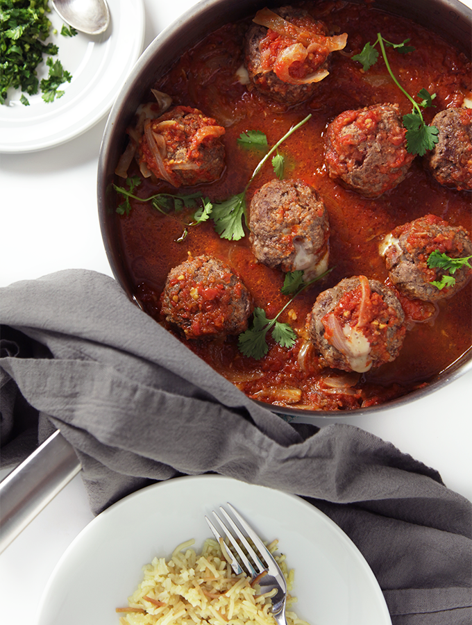 Mexican meatballs in chipotle sauce. Super easy and fast to make